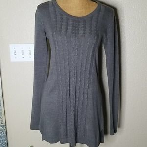 White Stag Gray Long Sleeve Light Weight Sweater